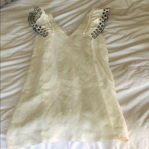 JCREW size 4 white linen dress!!